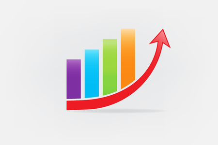 Business graph statistics growth sales icon vector image