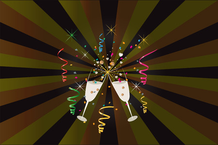 Party new year celebration vector image template