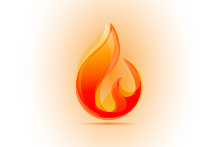 Fire flames id card business vector image logo
