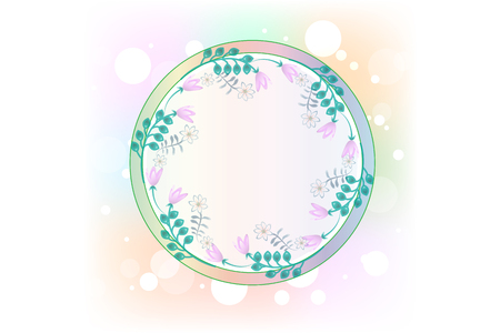 Flower Watercolor Vector isolated on plain background