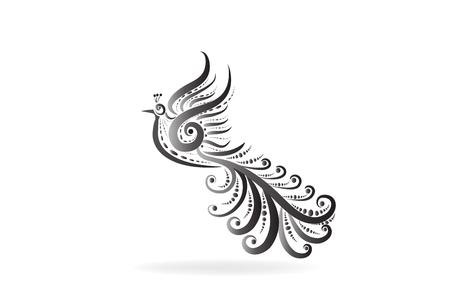 Ancient bird logo vector image 矢量图像