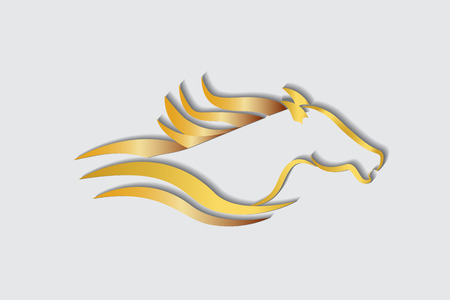 Racing horse logo vector image Stock Illustratie