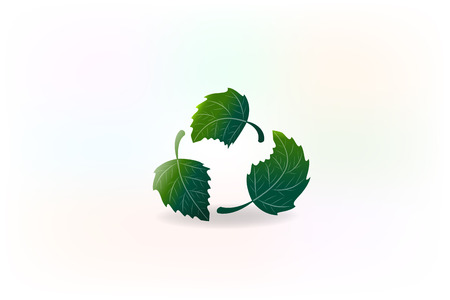Ecology leafs nature health recycle icon Illustration. Illustration