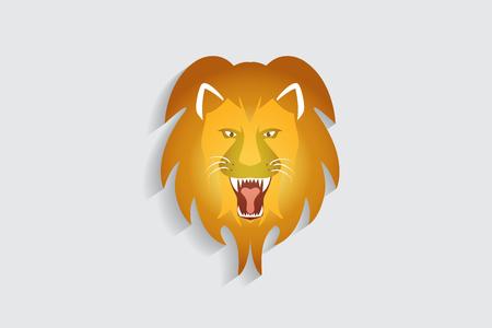 Lion roaring logo id card vector image  イラスト・ベクター素材
