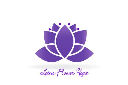 Lotus flower yoga logo vector