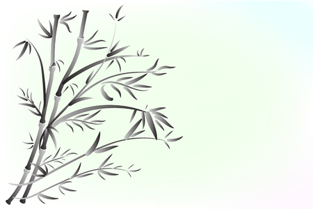 Bamboo paint icon logo vector template Illustration