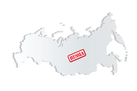 Russia map grunge seal icon vector image