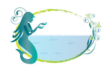 Meerjungfrau Silhouette Logo