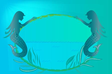 Mermaids or sirens vector image