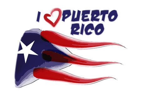 Puerto Rico painted flag icon vector image.