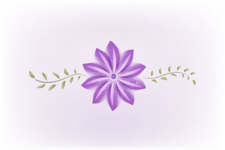 Flower decoration for wedding day watercolor  vector image