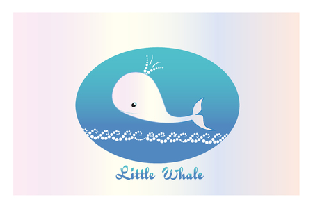 Little whale graphic vector design  illustration for children decorations