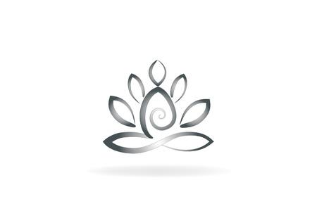 Immagine simbolo del fiore di loto yoga uomo logo