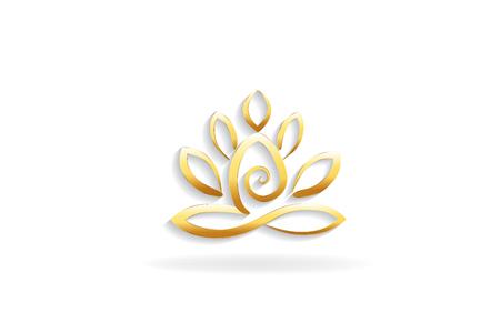 Lotus fleur yoga homme icône logo symbole carte d'identité