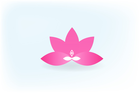 Yoga man inside a flower logo icon vector