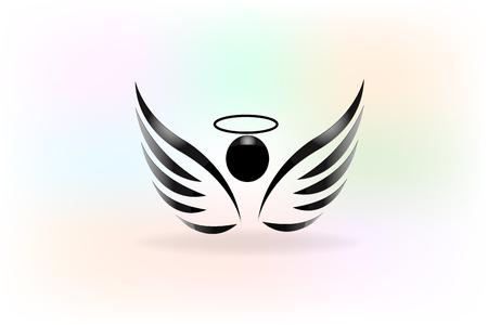 Dibujo vectorial de icono de alas de ángel Ilustración de vector