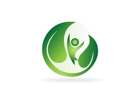 Health nature green care icon vector image Stock Illustratie