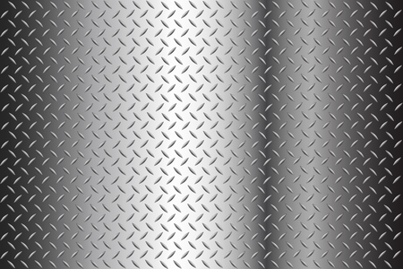 Seamless Diamond Plate Texture Stock Illustration Background with halftone Stock Illustratie