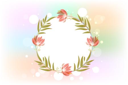 Dekoracja kwiatowa z miejscem na kopię dla obrazu wektorowego logo projektu