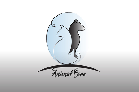 Logo dog ,cat and bird silhouette icon vector image