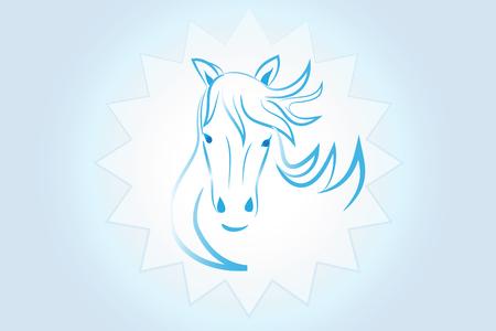 Horse logo vector image Illustration
