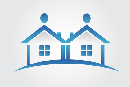 People house real estate logo