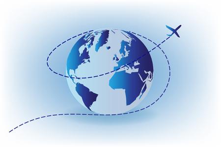 Travel background vector illustration  イラスト・ベクター素材