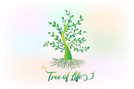 Símbolo del icono de la ecología del árbol de la vida del logotipo