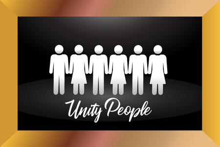 Framed a group of people. Unity concept