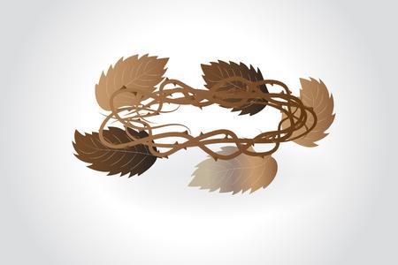 Leafs crown  vector image design