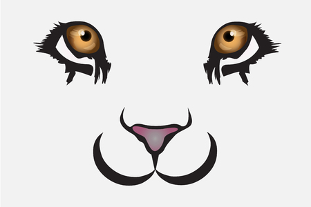Cute lion face vector illustration