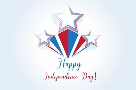 Fireworks stars USA flag  background