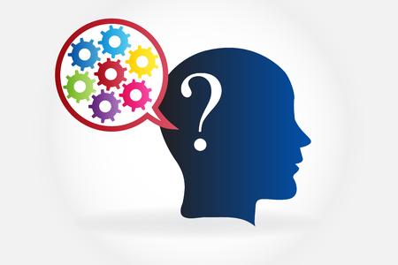 Intelligent brain thinking in solutions logo vector 일러스트