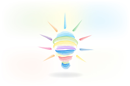 Bulb light logo. Creative idea symbol. Light bulb success concept vector illustration. Ilustração