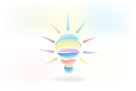 Logo de l'ampoule. Symbole de l'idée créative. Illustration vectorielle de ampoule succès concept. Logo