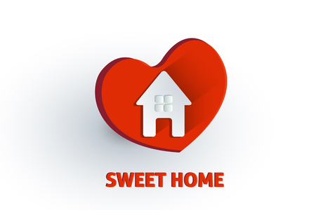 House love logo vector