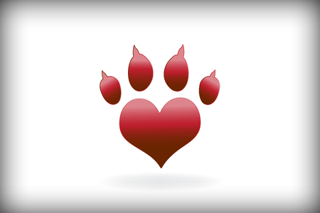 Paw logo vector Illustration
