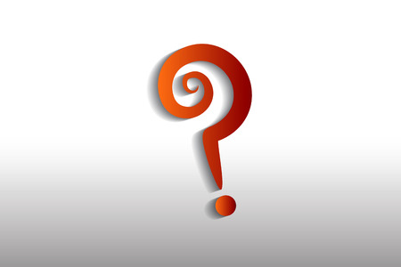 Question mark sign vector image Illustration