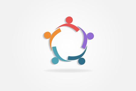 Logo teamwerk partners zakenmensen vector design