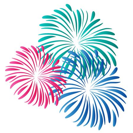 Fireworks logo vector Illustration