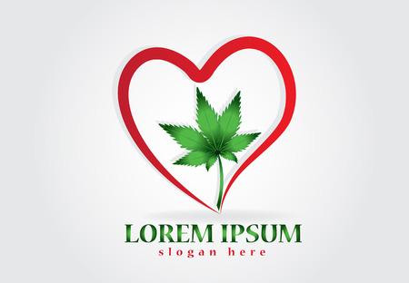 Cannabis leaf logo Illustration