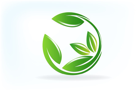 Health nature leafs logo vector