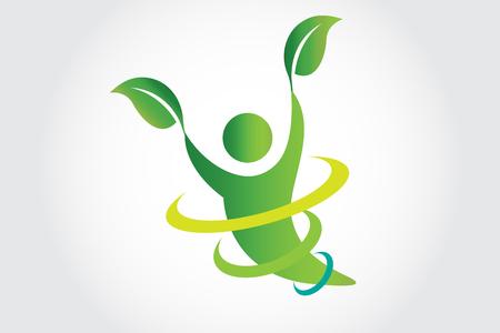 Health Nature Logo Vector Design Çizim