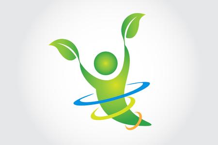Health Nature Logo Vector Design Ilustração