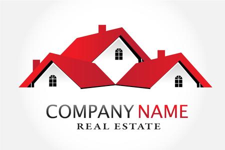 Logo beherbergt Immobilienvektor
