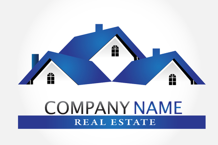 Logo houses real estate vector Illustration