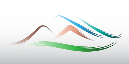Mountains logo vector design