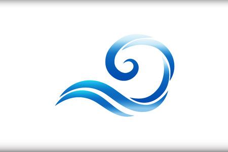 Spiral waves logo identity card icon background vector design 向量圖像