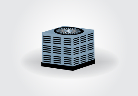 Central air conditioning unit illustration graphic design