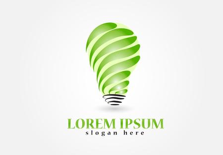 Bulb green ideas icon image design Vettoriali